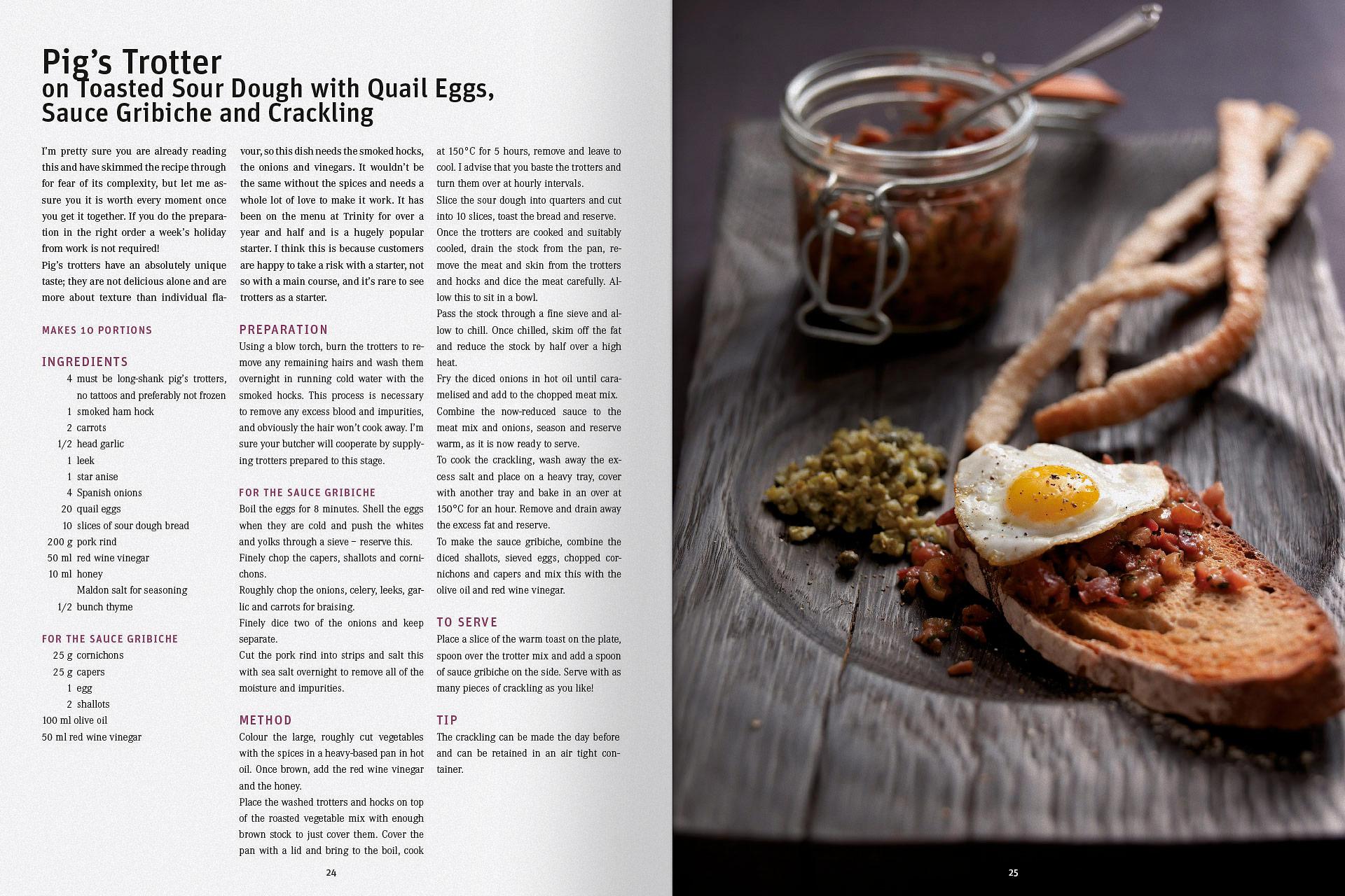 Gestaltungskonzept für ein Kochbuch