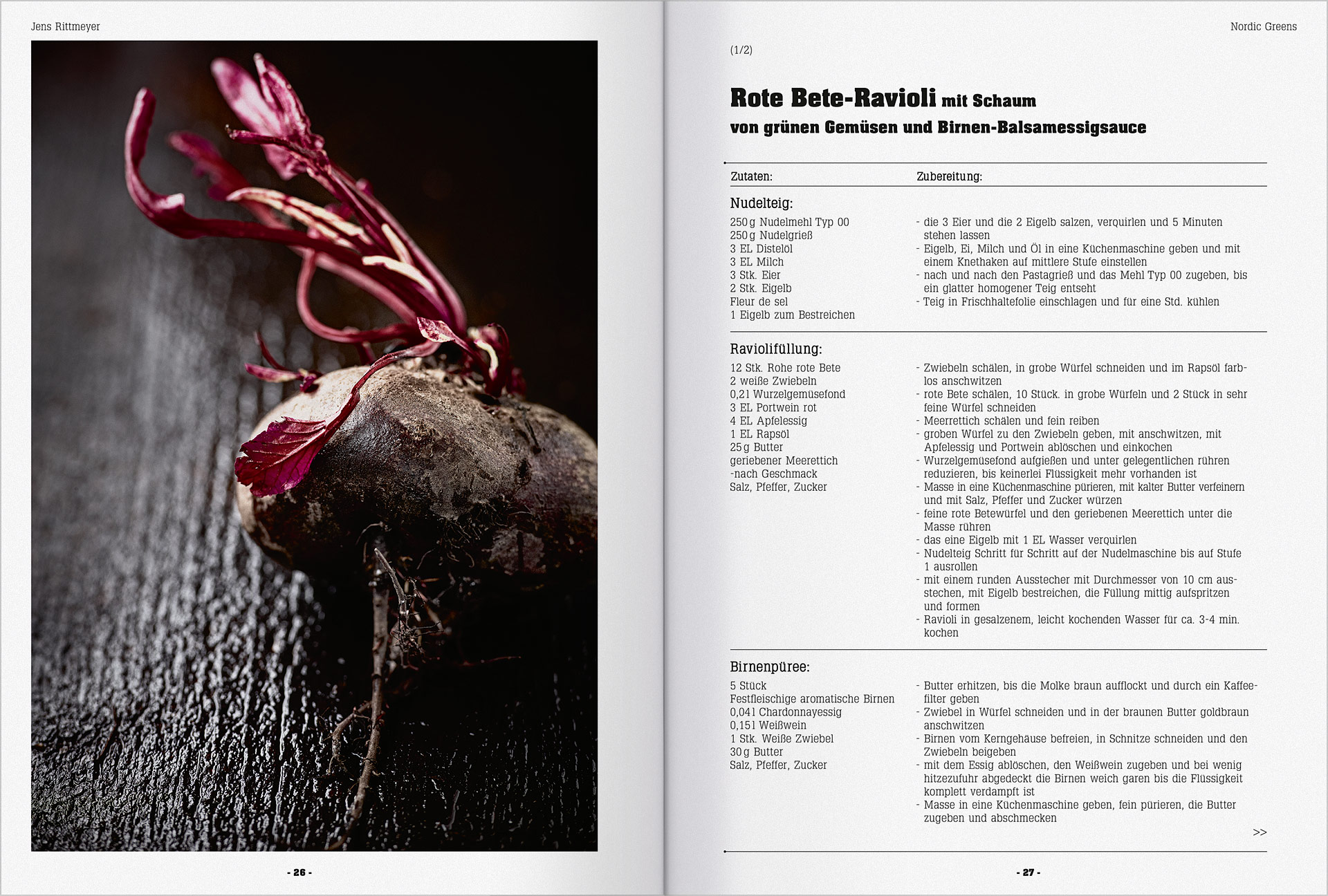 Speisekarte und Prospektgestaltung für die Gastronomie Seite 6